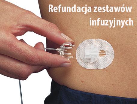 Zestawy infuzyjne częściowo refundowane dla chorych na cukrzycę typu 1 powyżej 26 roku życia
